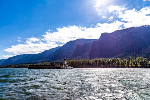 Columbia River Barge