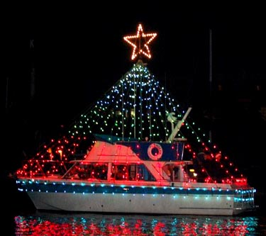 The vessel Gambler, part of the Christmas ships fleet